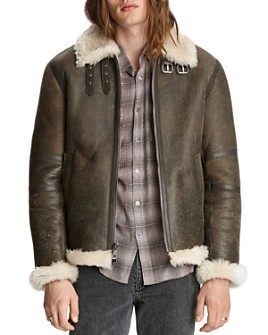 John Varvatos Collection - Lamb Shearling Flight Jacket