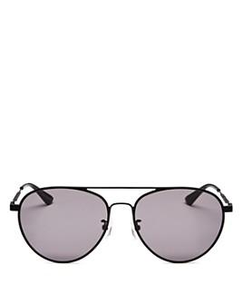 McQ Alexander McQueen - Unisex Brow Bar Aviator Sunglasses, 58mm
