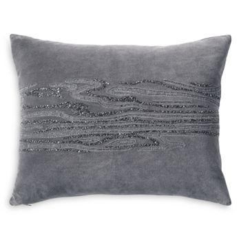 "Donna Karan - Current Beaded & Embroidered Decorative Pillow, 16"" x 20"""