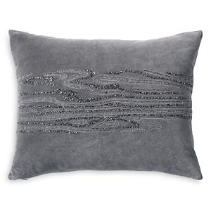 Donna Karan Current Beaded & Embroidered Decorative Pillow, 16 x 20