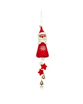 TO THE MARKET - Felt Santa Jingle Bell Ornament