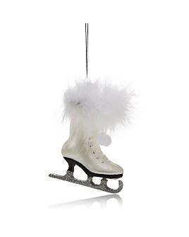 Kurt Adler - Noble Gems White Ice Skate Ornament