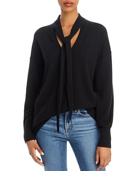 Theory - Tie-Neck Cashmere Sweater - 100% Exclusive