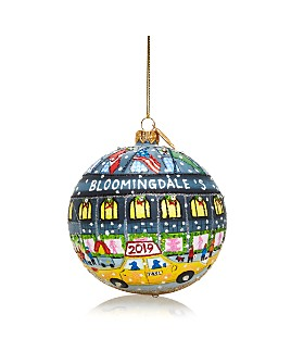 Michael Storrings - Bloomingdale's 2019 Glass Ball Ornament - 100% Exclusive