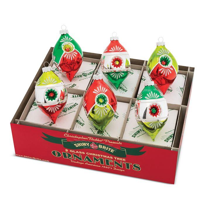 """Christopher Radko - Brite™ 3.5"""" Multi-Reflector Tulips Ornaments, Box of 6"""