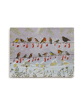 Design Design - Bird Stockings in a Row Greeting Card, Box of 20