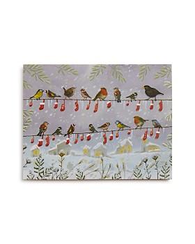 Design Design - Bird Stockings in a Row Greeting Card, Box of 20