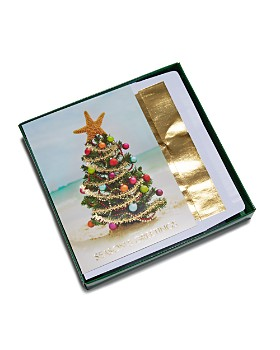 Masterpiece - Beach Christmas Tree Greeting Cards, Box of 18