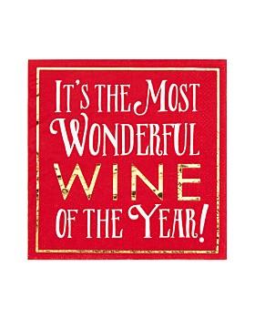 Design Design - Most Wonderful Wine Napkin, Set of 16