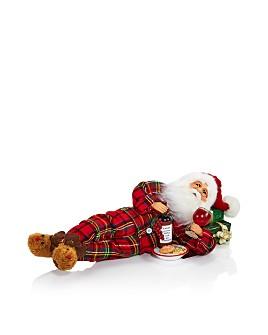 Karen Didion Originals - Lying Wine Snack Santa