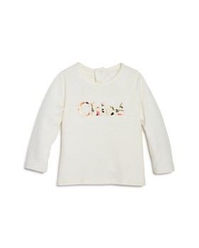 Chloé - Girls' Floral-Logo Tee - Baby