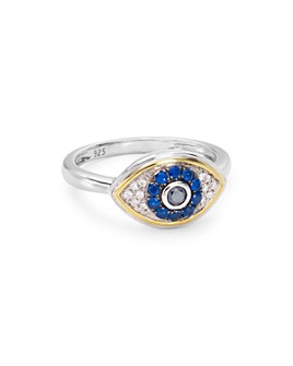 Bloomingdale's - Diamond Evil Eye Ring in Sterling Silver & 14K Gold-Plated Sterling Silver, 0.11 ct. t.w. - 100% Exclusive