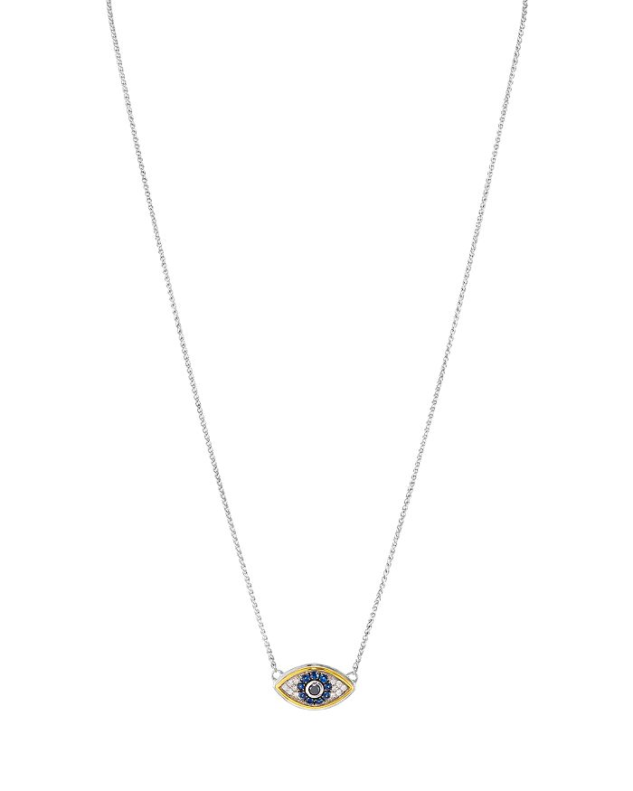 """Bloomingdale's - Diamond Pendant Necklace in Sterling Silver & 14K Gold-Plated Sterling Silver, 0.14 ct. t.w., 17"""" - 100% Exclusive"""