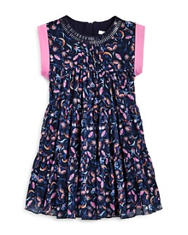 Chloé - Girls' Tiered Floral Print Dress - Big Kid