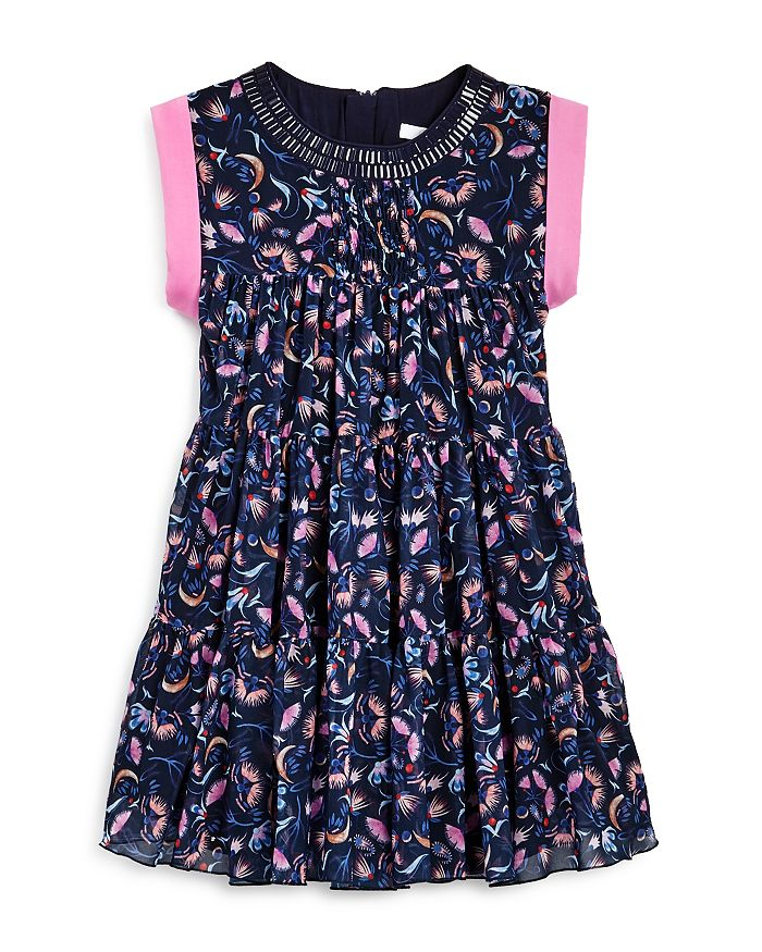 Chloé - Girls' Tiered Floral Print Dress - Little Kid