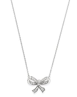Bloomingdale's - Diamond Bow Pendant Necklace in 14K White Gold, 0.30 ct. t.w. - 100% Exclusive