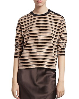 ATM Anthony Thomas Melillo - Striped Pima Cotton Boy Long-Sleeve Tee