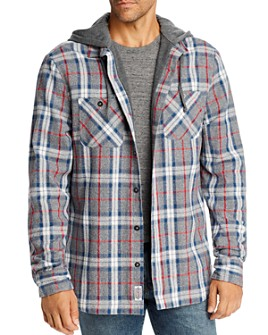 Flag & Anthem - Paxton Plaid Hooded Regular Fit Shirt