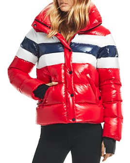 SAM. - Lindsey Color-Blocked Short Down Coat