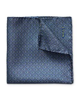 Eton - Geometric Circle Star Pattern Pocket Square