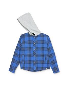 Sovereign Code - Boys' Hane Plaid Hooded Shirt - Little Kid, Big Kid