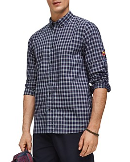 Scotch & Soda - Mini-Check Regular Fit Button-Down Shirt