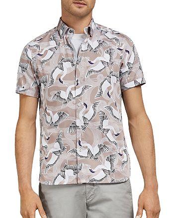 Ted Baker - Ozcar Bird Print Slim Fit Shirt