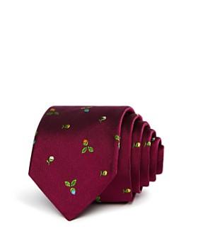 Paul Smith - Narrow Rose Pattern Skinny Tie