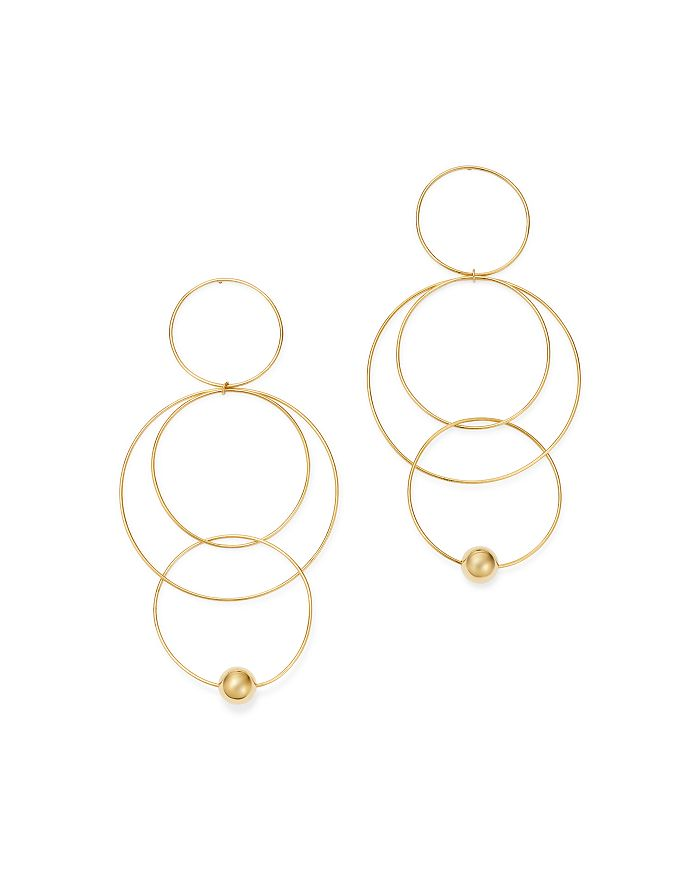 Moon & Meadow - 14K Yellow Gold Interlocking Circle Drop Earrings - 100% Exclusive