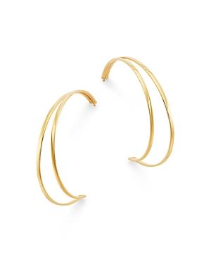 Bloomingdale's Half Moon Hoop Earrings in 14K Yellow Gold - 100% Exclusive