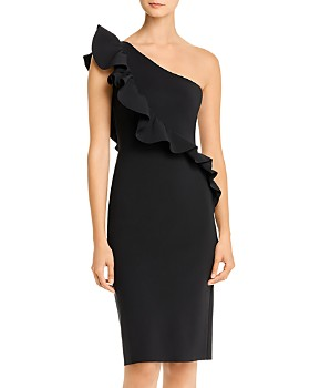La Petite Robe - Marine Ruffled One-Shoulder Dress - 100% Exclusive