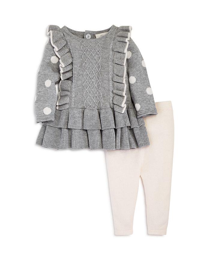 Miniclasix - Girls' Ruffled Sweater & Knit Leggings Set - Baby