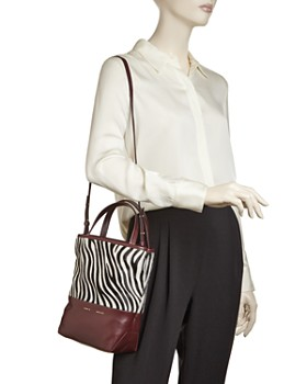 Alice.D - Small Zebra-Print Top Tote - 100% Exclusive
