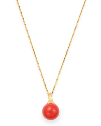 Marco Bicego - 18K Yellow Gold Africa Coral Pendant Necklace, 16.75""