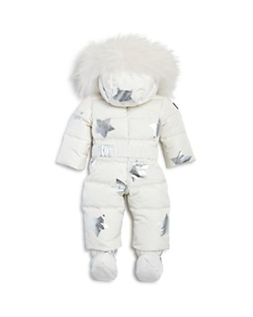 SAM. - Girls' Fur-Trimmed Star Print Snowbunny Suit - Baby