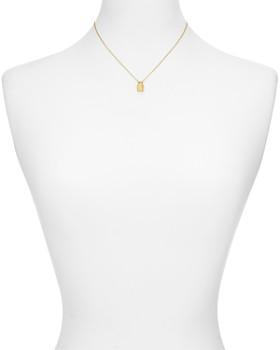 "kate spade new york - Pavé Lock Mini Pendant Necklace, 16"""