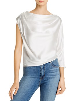Michelle Mason - Asymmetric Draped Silk Top