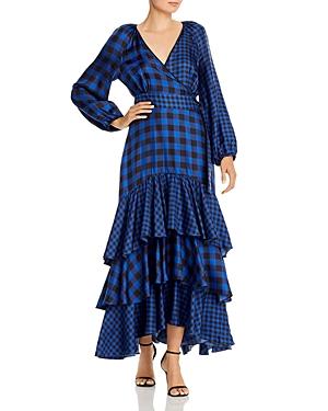 Paper London Neli Mega Mix Silk Wrap Dress