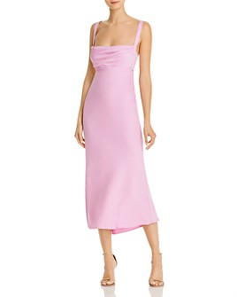 Michelle Mason - Crisscross Draped Silk Dress