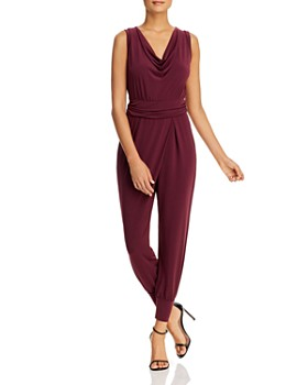 Kenneth Cole - Sleeveless Cowl-Neck Jumpsuit