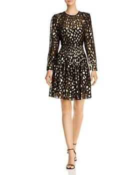 Rebecca Taylor - Silk-Blend Metallic Leopard Mini Dress