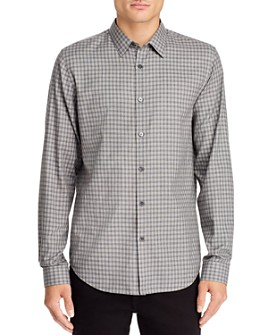 Theory - Irving Visby Check-Print Regular Fit Shirt