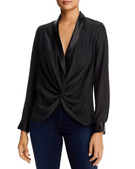 Donna Karan - Silk Blend Twist-Front Top