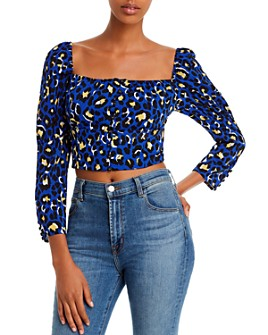 Rahi - Chloe Animal-Print Cropped Top