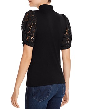 Generation Love - Alanna Lace-Puff-Sleeve Top