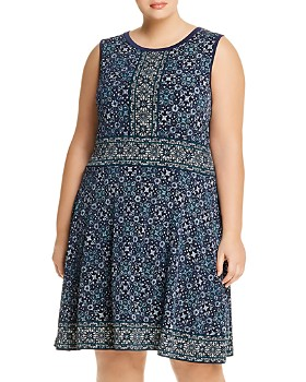 MICHAEL Michael Kors Plus - Border-Print Dress