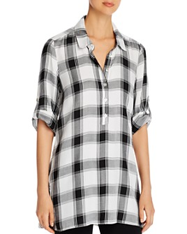 Single Thread - Plaid Tunic Top