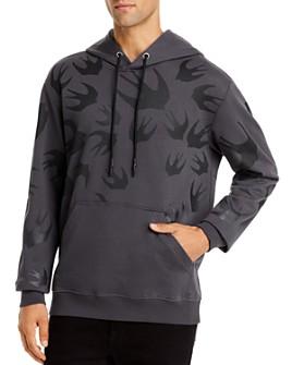 McQ Alexander McQueen - Swallow-Print Hooded Sweatshirt