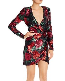 Saylor - Sequin Floral Mini Dress