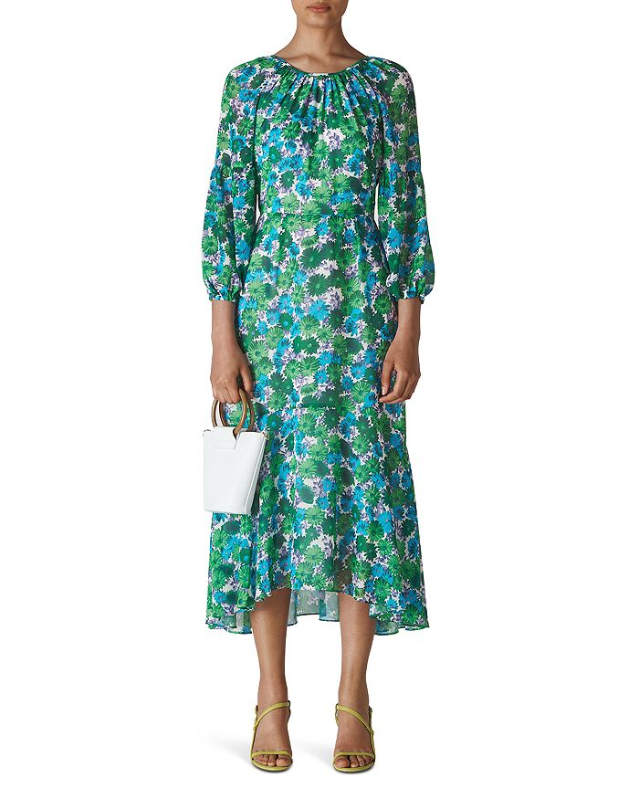 Whistles - Alva Flora-Print Midi Dress